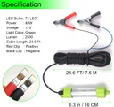 DC12V 18W/45W Aluminum LED Fish Submersible Underwater Fishing Light